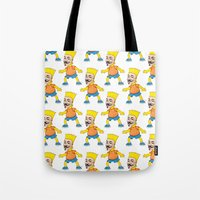 anonymous Tote Bags featuring Anonymous by Daniel Cash