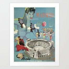 Vintage poster - Madrid Art Print