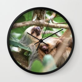 Yawning Baby Sloth Wall Clock