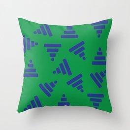 Pyramid Green Throw Pillow