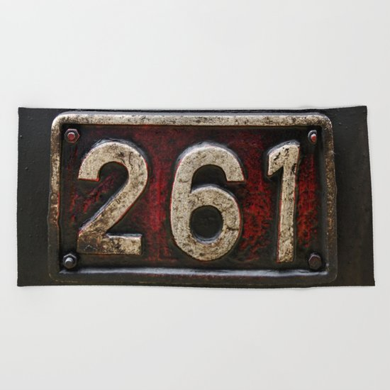 261 number Beach Towel