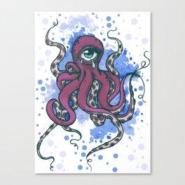 One-eyed Octopus Canvas Print