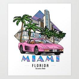 Miami, bedrock of diversity! Art Print