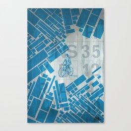 BlueBike Canvas Print