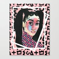 fka twigs Canvas Prints featuring FKA TWIGS by Isabelle Ewing