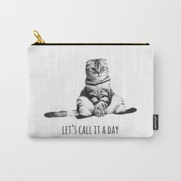 Funny Tired Cat Let's Call It A Day Carry-All Pouch