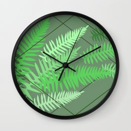 Ferns - Rockport State Park Wall Clock