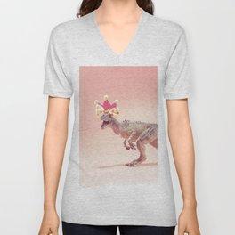 Allosaurus with crown Unisex V-Neck
