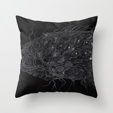 Life of Oceans: The Deep Sea Fish Throw Pillow