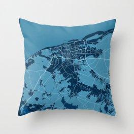 Calais - France Peace City Map Throw Pillow