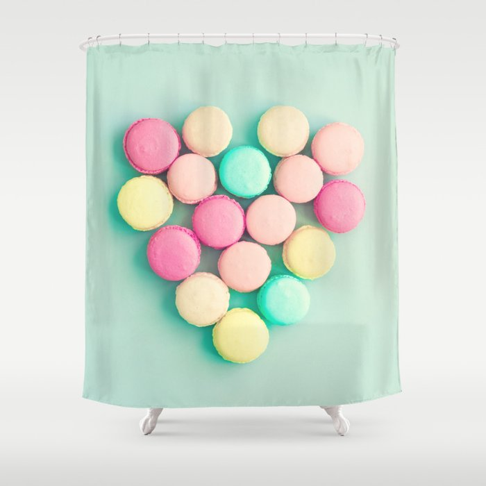Macarons, macaroons heart II, pop art Shower Curtain