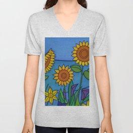 Sunflower Dance Unisex V-Neck