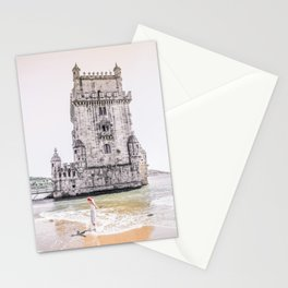 Belem Tower girl Stationery Cards