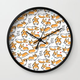 Corgi Cuties Wall Clock