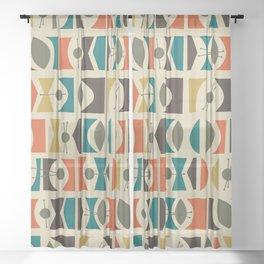 Tromen - Orange Sheer Curtain