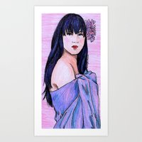 blanket Art Prints featuring Blanket by Margret Stewart