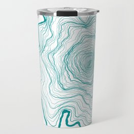 Tree Rings of Turquoise Travel Mug