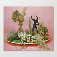 Canvas Prints featuring The Wonders of Cactus Island by Cassia Beck