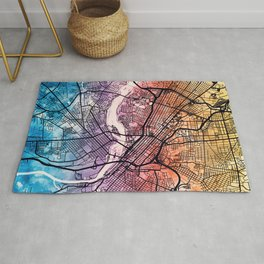 Richmond Virgina City Map Rug