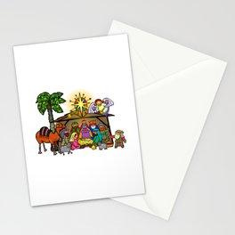 Christmas Nativity Cartoon Doodle Stationery Cards