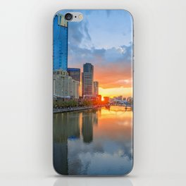 River Sunset iPhone Skin