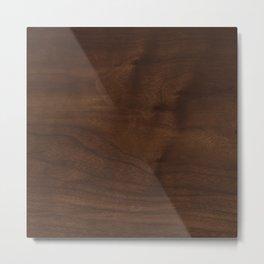 walnut textile natural wood Metal Print
