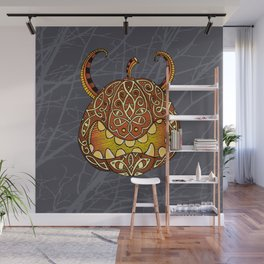 Celtic Halloween pumpkin Wall Mural