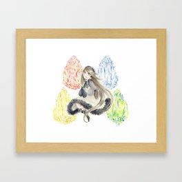 Bravely Default Agnes & Crystals Watercolor Framed Art Print