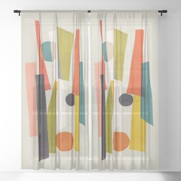Sticks and Stones Sheer Curtain