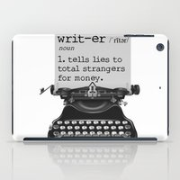 writer iPad Cases featuring Writer Defined by Nicole Austin