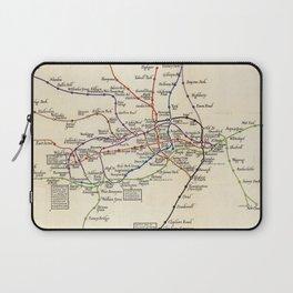 Vintage Map of The London Underground (1923) Laptop Sleeve
