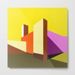 Casa Luis Barragán - Modern architecture abstracts  Metal Print