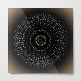 Sacred Geometry Prints 'Golden' Metal Print