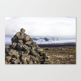 We reached the trail marker Canvas Print