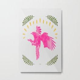 Pink Falcon Metal Print