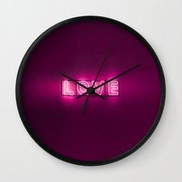 Love Neon Sign Wall Clock