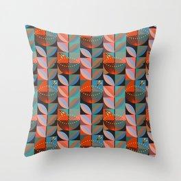 Electric Pohutukawa Throw Pillow