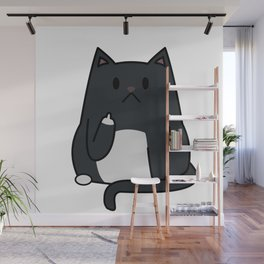 Cat Flipping Out Wall Mural