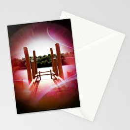 Our world is a magic - Boat dock  Stationery Cards