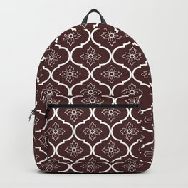 Retro flower in maroon Backpack