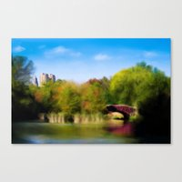 central park Canvas Prints featuring Central Park by Tres Cameo Art & Photography