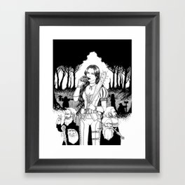 Furious at the Poisoned Apple Framed Art Print