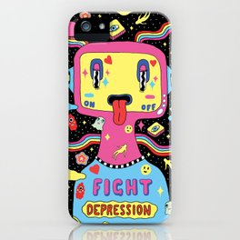 Fight Depression iPhone Case