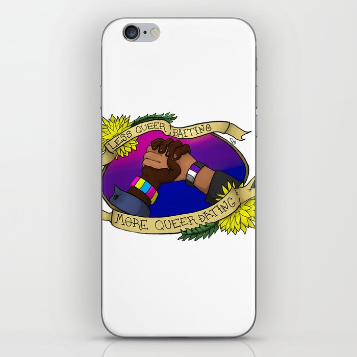 Less Queerbaiting - More Queer Dating!  iPhone Skin