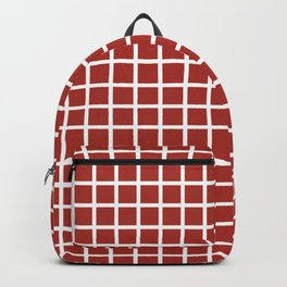 Grid (White & Brown Pattern) Backpack