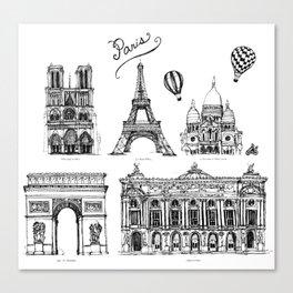 Cityscape Paris Canvas Print