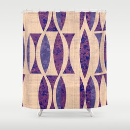 Seventies violet Pattern Shower Curtain
