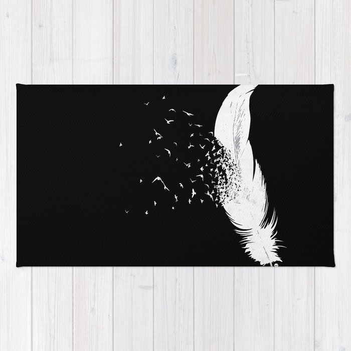 Birds of a Feather (Black) Rug