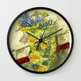 A Bag of Pineapples Wall Clock