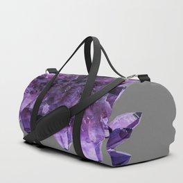 PURPLE AMETHYST QUARTZ CRYSTALS MINERAL SPECIMEN Duffle Bag